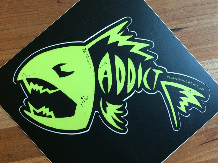 Addict Fish Sticker By Aurora Whittet Best