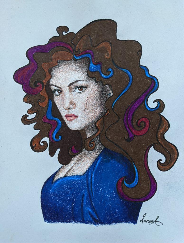Harper A Curse So Dark and Lonely. Fan Art Illustration by Aurora Whittet Best