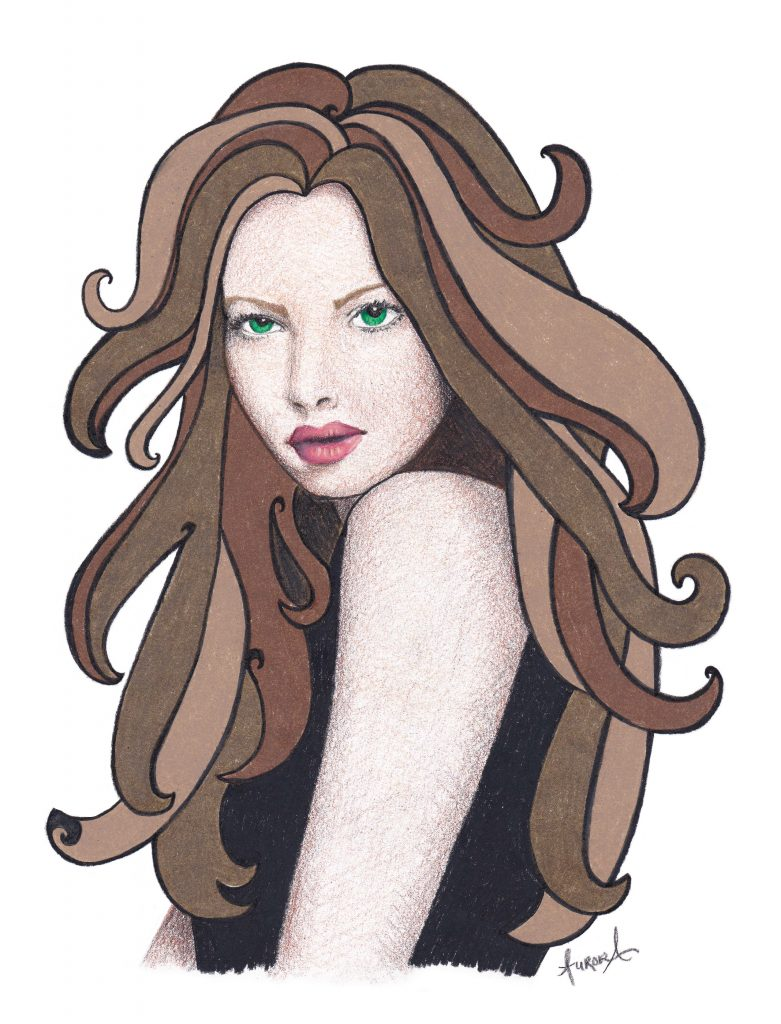 "Maddy fan art illustration from the ""Unclaimed Series"" by Laurie Wetzel. Illustration by Aurora Whittet Best."